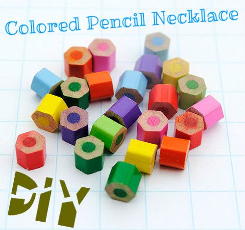 11. Colored Pencil Necklace | Community Post: 19 DIYs For The Artist In You