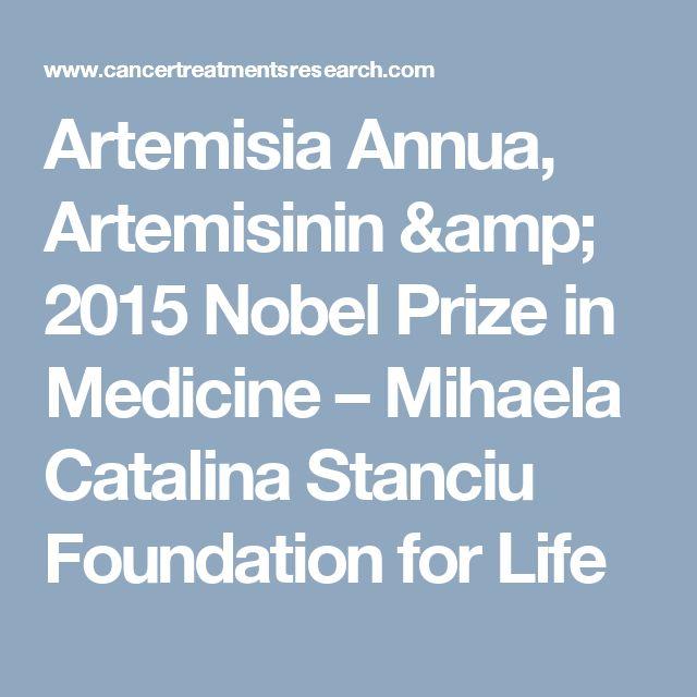 Artemisia Annua, Artemisinin & 2015 Nobel Prize in Medicine – Mihaela Catalina Stanciu Foundation for Life
