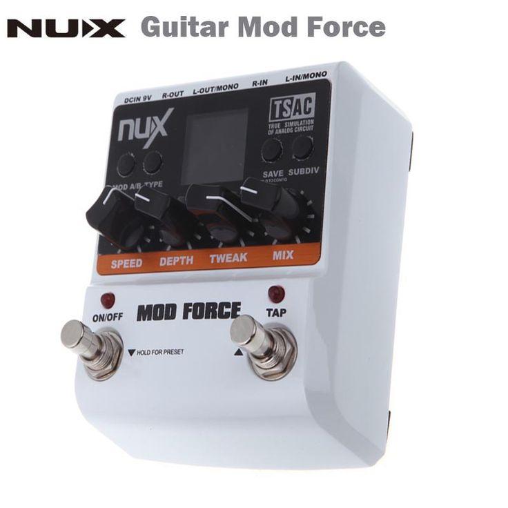 Força NUX Mod Efeito Guitarra Pedal 12 Multi Modulação Tela Colorida de Alta Qualidade Guitar parts & Accessories