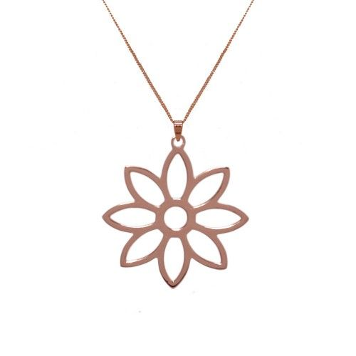 Namaqua Daisy Flower Necklace • Rose Gold