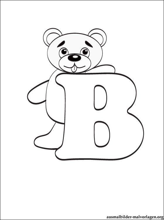 buchstaben b malvorlagen malvorlage buchstabe b