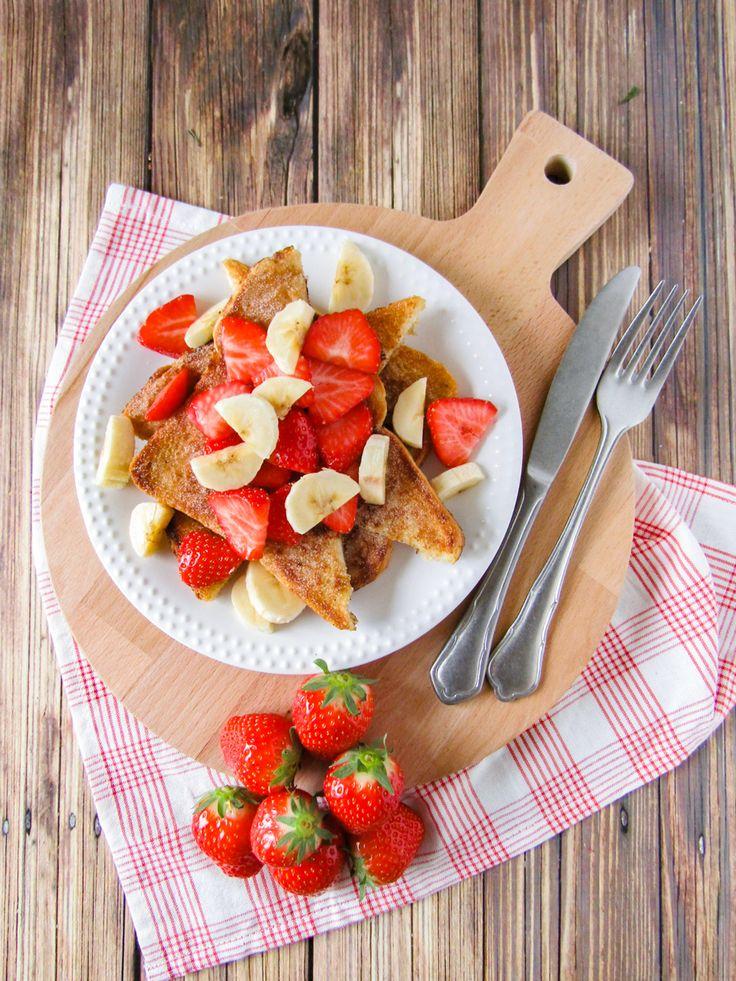 Vandaag een recept dat mij echt aan vroeger doet denken, wentelteefjes! Lekker, knapperig en warm. Heerlijk met kaneelsuiker, aardbeien en banaan.