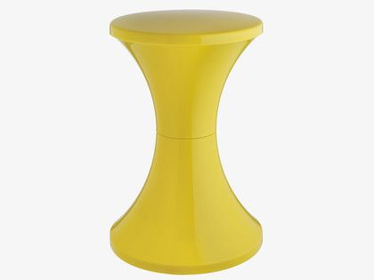 TAM TAM Yellow plastic stool Habitat £15 each (bargain!) Also available in Green, black, white, pale pink and red and can be stacked (see other pic!)