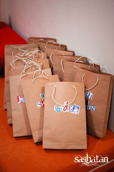 Decorating party bags