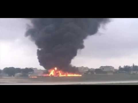 Plane Crash On Malta   Most Amazing Airplane Crash 2016