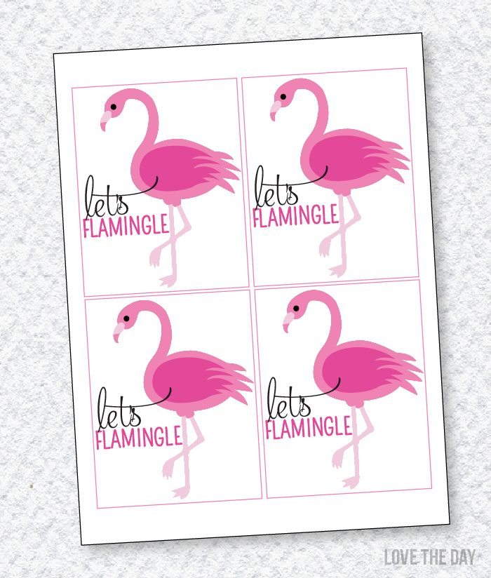 Free Printable Flamingo Party Favors Free Printables