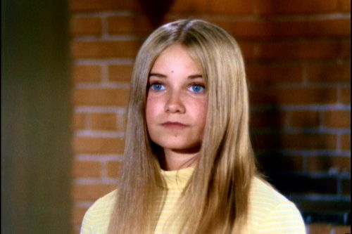 Maureen McCormick as Marcia Brady,, look at those baby blues. She got a whole generation of 12 year old guys through puberty.