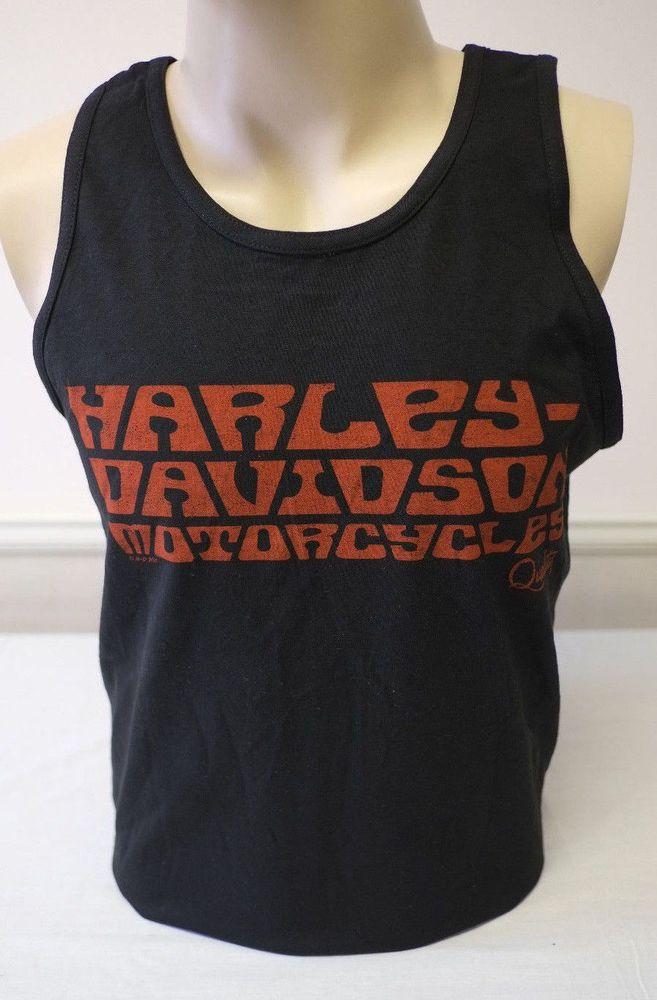 Harley Davidson Men S Sleeveless Black Action Tank Top Shirt Small Fashion Clothing Shoes Acc Tank Top Shirt Black Tank Top Men Harley Davidson Tank Tops