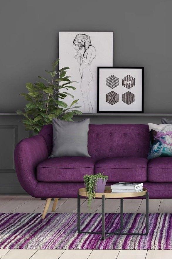3 Sitzer Sofa Jasper Modernes Design Wohnzimmer In Lila Violett Wohnzimmer Einrichten Ideen Wohnzimmer Einrichten Wohnzimmer Ideen Wohnung