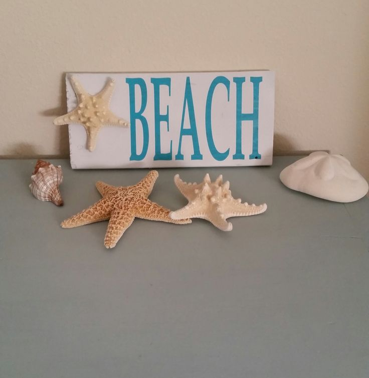 Reclaimed Wood Beach Sign, with Starfish.  Beach Sign, Beach Wall hanging. by SandyToeshomedecor on Etsy
