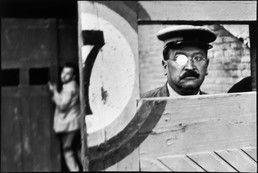 SPAIN. Valencia. 1933.  Inside the sliding doors of the bullfight arena.