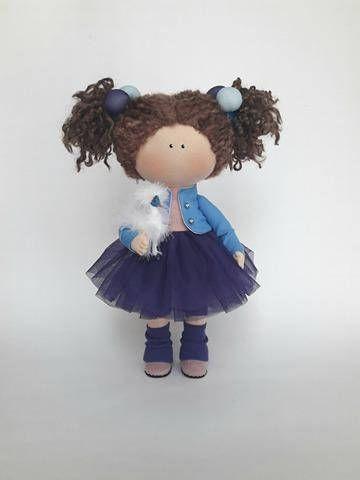 Blue Doll Nursery Doll Collectable Doll Cloth Doll Baby Doll Rag Doll Interior Doll Tilda Decor Doll Handmade Doll Fabric Doll by Irina E __________________________________________________________________________________________ Hello, dear visitors! This is handmade cloth doll
