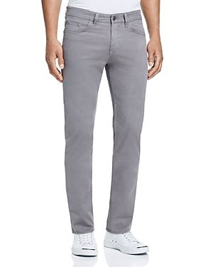 BOSS HUGO BOSS BOSS STRAIGHT FIT SOFT TWILL JEANS IN GREY - 100% EXCLUSIVE. #bosshugoboss #cloth #