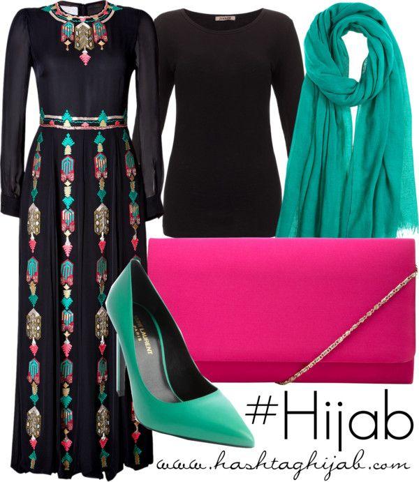 ❤️❤️❤️ looks like a thobe.... Hashtag Hijab Outfit #363