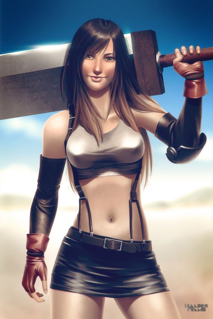 Tifa Lockhart from Final Fantasy VII by Leandro Franci