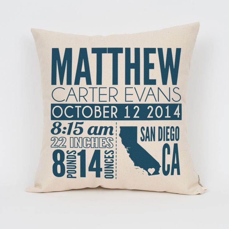 1000 images about baby on pinterest personalized pillows birth announcement personalized pillow negle Images