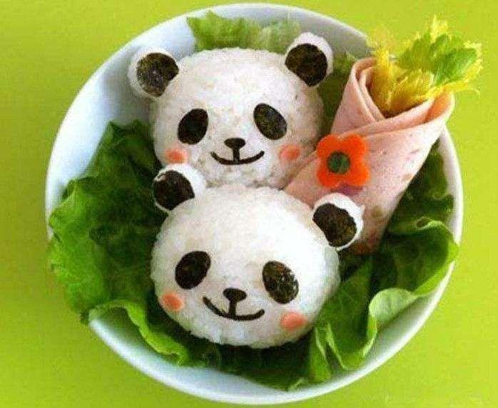 Rosy Cheeked Panda Sushi