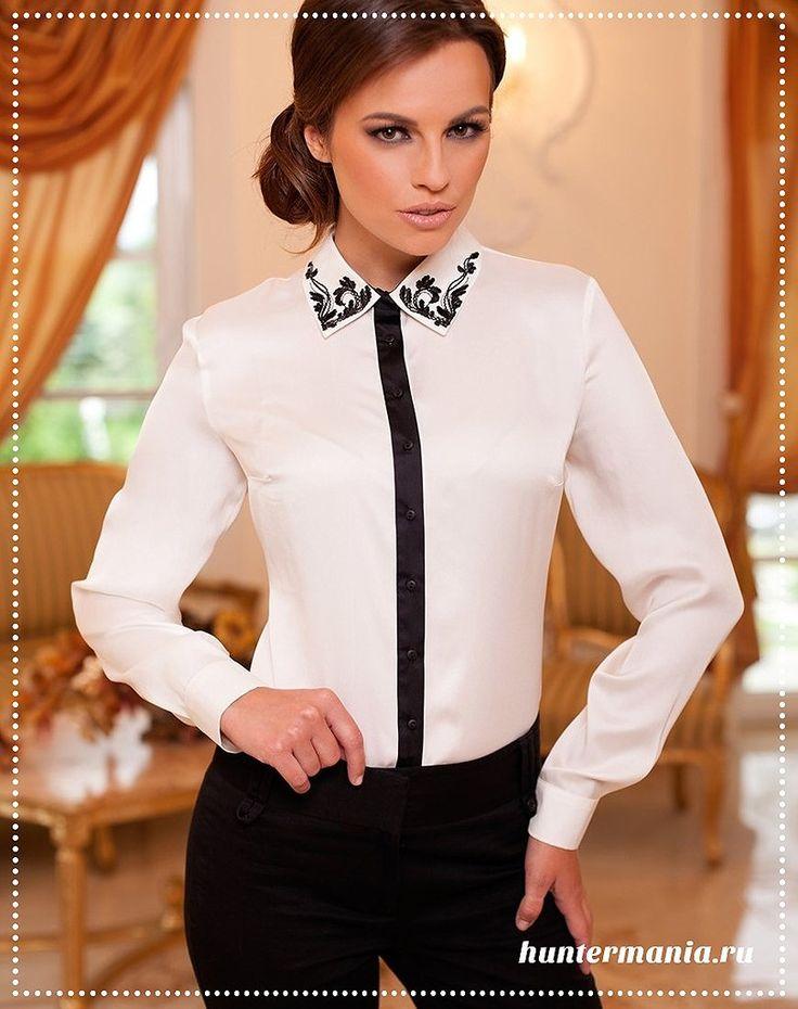 Белая #блуза — основа гардероба http://www.huntermania.ru/2016/04/belaya-bluza-osnova-garderoba/