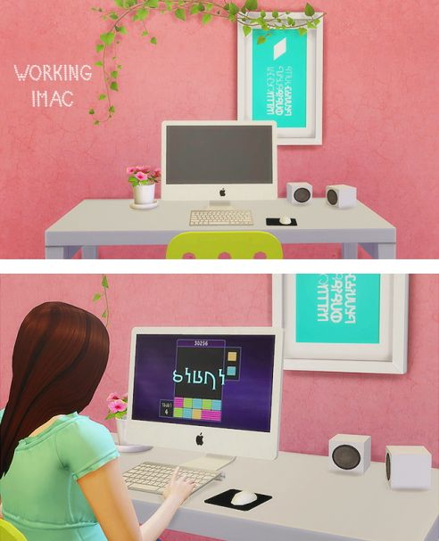 LinaCherie  iMac   working computer   Sims 4 Downloads. 82 best sims images on Pinterest