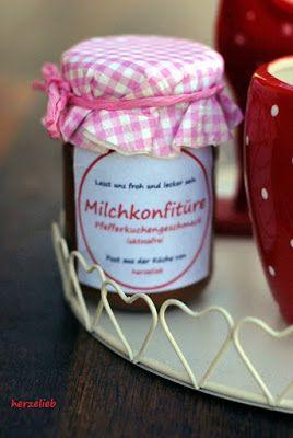 Milchkonfitüre mit Lebkuchengeschmack - laktosefrei - herzelieb