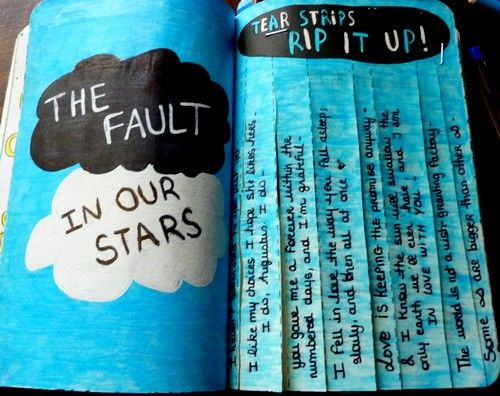 This page was inspired by The Fault In Our Stars, a wonderful novel by John Green. I wrote my favorite quotes from the book on the strips :)