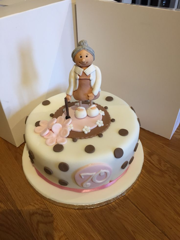 70th Old Lady Cake In 2020 Cakes For Women Cake