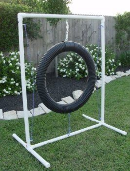 Tire Jump - Dog Agility Equipment - http://www.thepuppy.org/tire-jump-dog-agility-equipment/