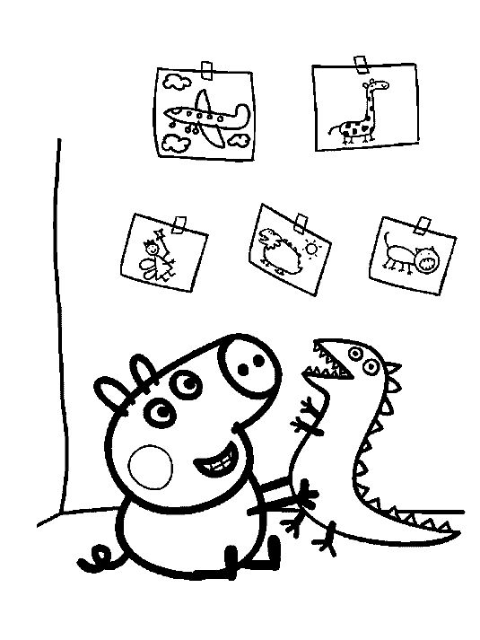 free printable peppa pig coloring pages for kids color this online pictures and sheets and color a book of peppa pig coloring sheets - Peppa Pig Coloring Pages Print