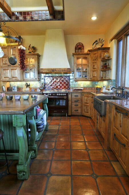 Rustic Mexican Kitchen Design Ideas ~ Spanish style kitchen kitchens pinterest kök house