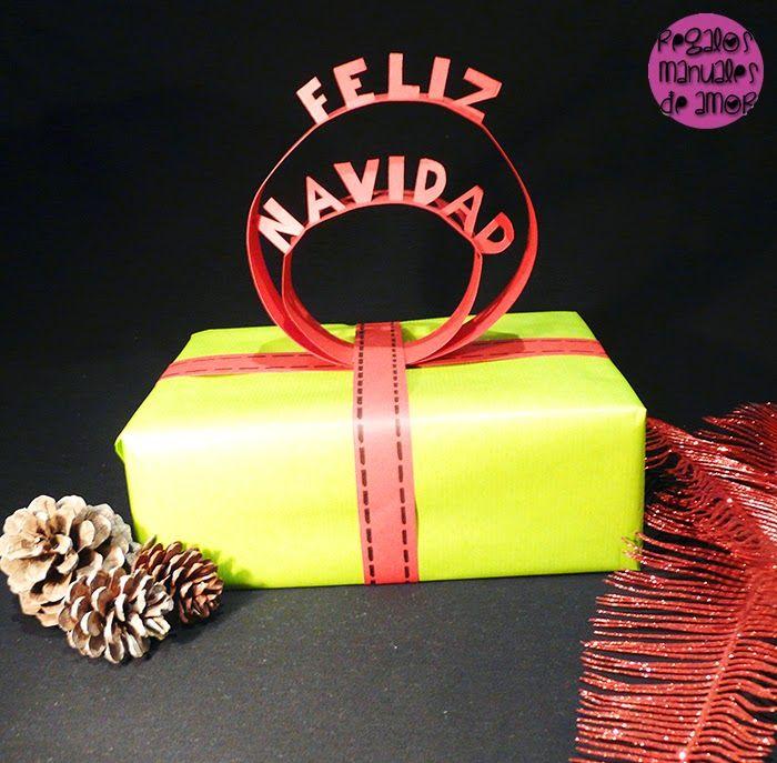 Regalos manuales de amor: Topper de papel para coronar tus regalos