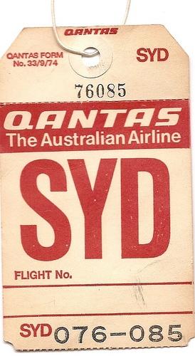Qantas - SYD Sydney, Australia - 1974