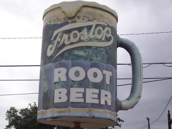 frostop root beer mug - original signage from the 1950s - downtown baton rouge, la