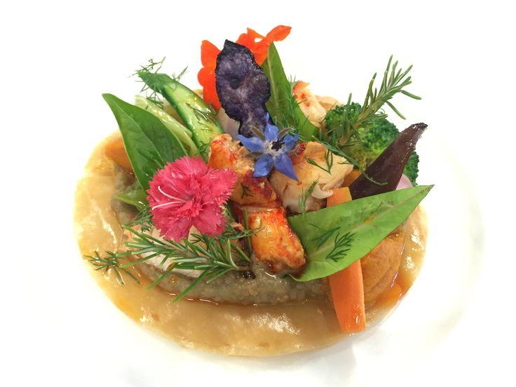 Les jolies assiettes confectionnées par le Chef David PREVEL...