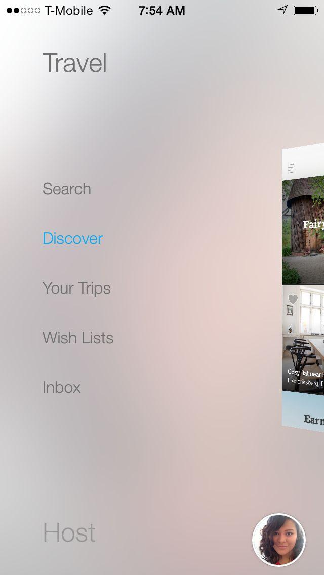 Airbnb's gorgeous basement menu