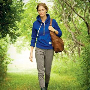 Creston Fleece Kanga Hoody (women, blank)