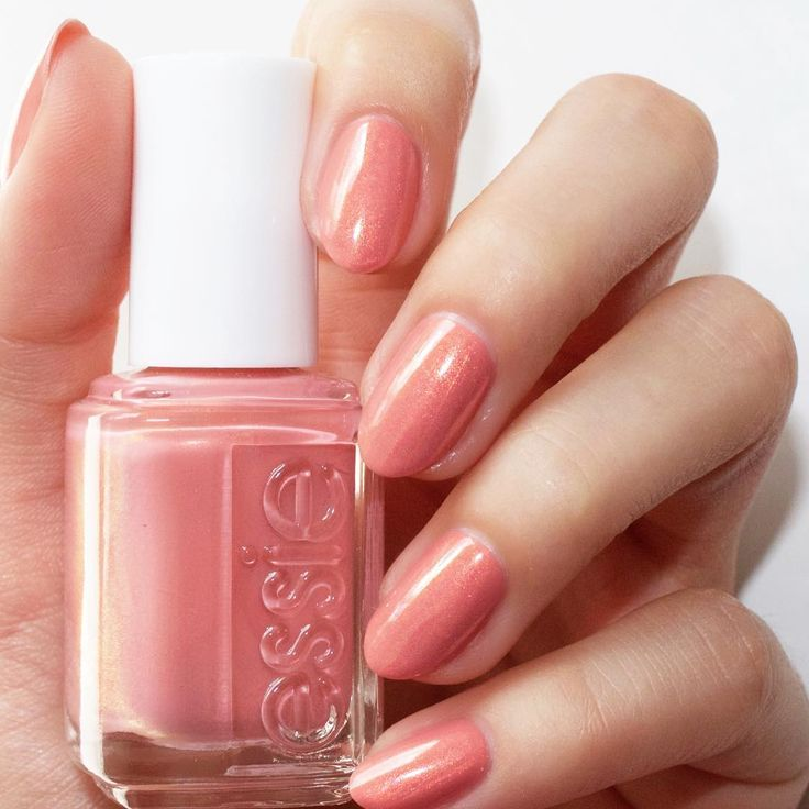 This minx peach frost mani 'oh behave!' is absolutely perfect! Shop this shade from the essie winter 2016 collection: http://www.essie.com/Colors/pinks/oh-behave.aspx