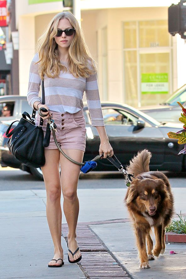 Amanda Seyfried on the street in LA - celebrity fashion