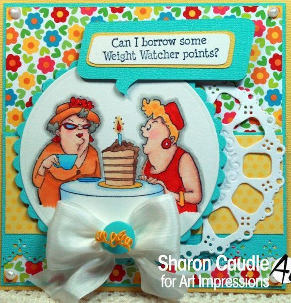Weight Watcher Points Sells for 5.99. . Retired Art Impressions Other items in examples sold separately Pat's Rubber Stamps & Scrapbooks. Call me 423-357-4334 or email me patbubstilwell@gm... with orders Free shipping with 35.00 or more on phone call order or email orders. We can send an invoice through pay pal and we don't need your account Number