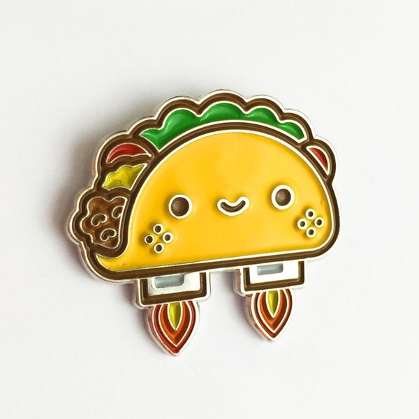 Space Taco Pin - 100% Soft
