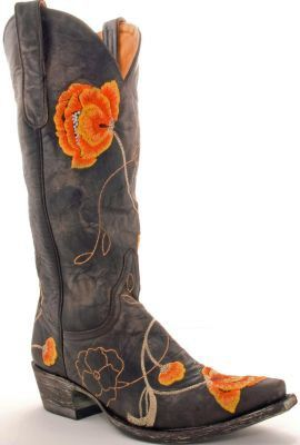 orange: Cowgirl Boots Orange, Orange Flower, Cowboy Boots, Allen Boots, Old Gringo, Clothing, Be- Cowboys, Country Girls, Cowboys Boots