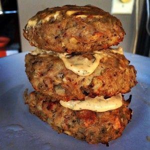 Cajun Mahi Mahi and Potato Cakes with Homemade Remoulade