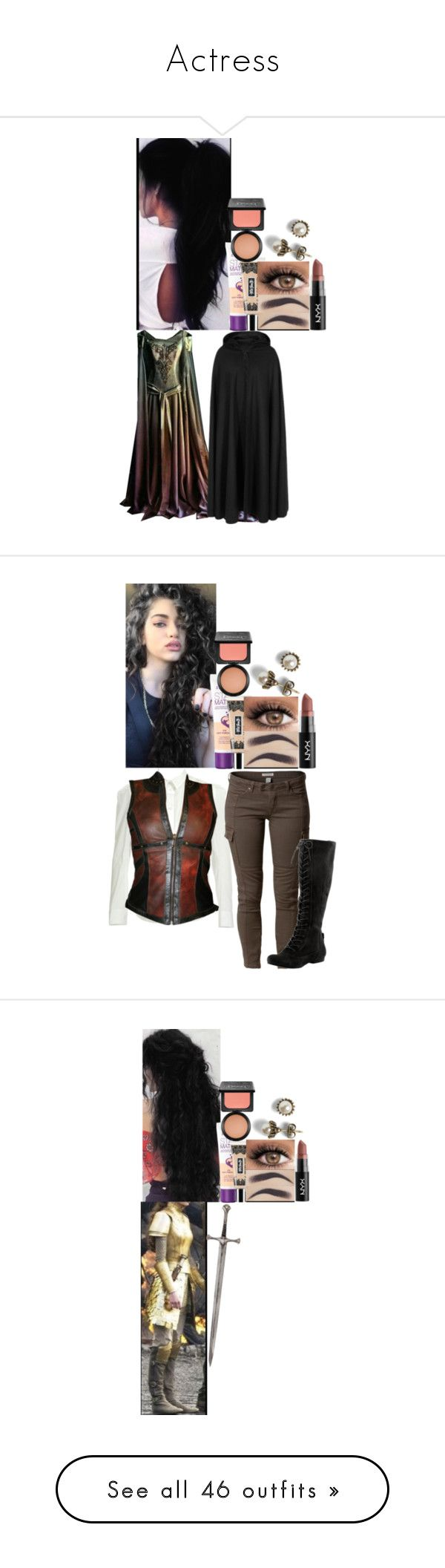 """""""Actress"""" by fuckmeirwin ❤ liked on Polyvore featuring Rimmel, Kat Von D, MAC Cosmetics, NYX, Priestley's Vintage, Five and Diamond, Savannah, Nine West, Denim & Supply by Ralph Lauren and Wet n Wild"""