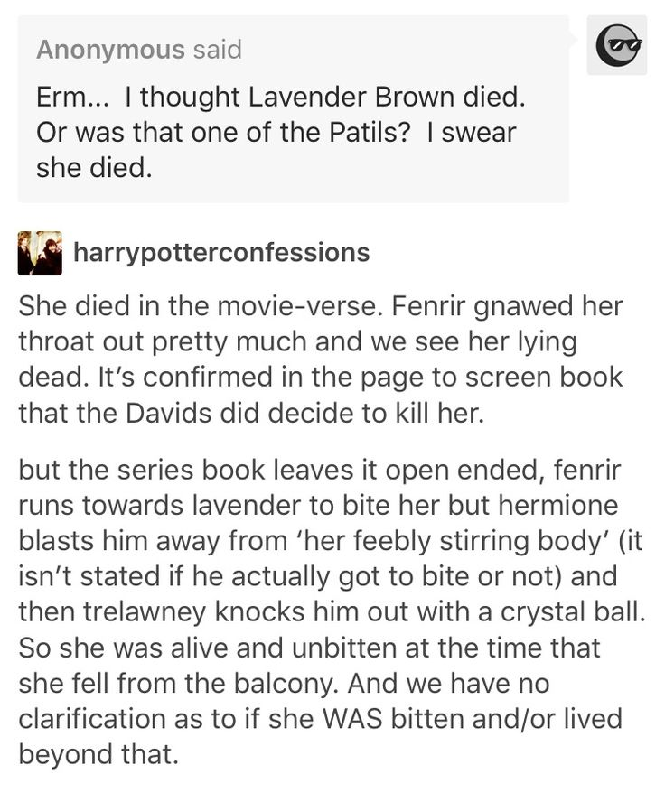 Ha! Thanks for saying this. I swear everyone thinks she died but it's only in the movie we get this confirmed
