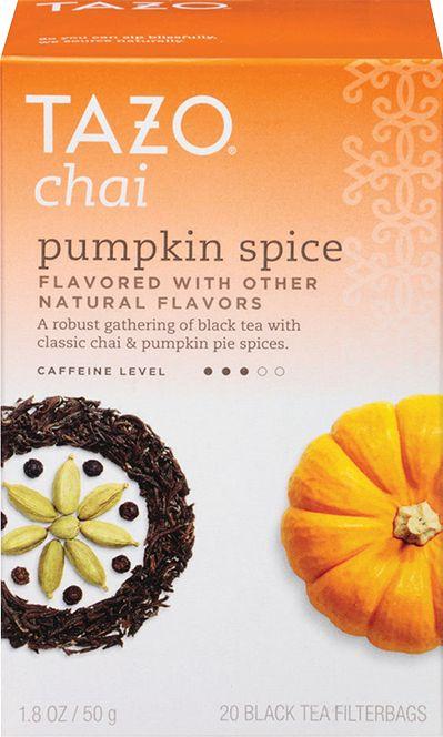 Chai Pumpkin Spice- i think I like this pumpkin flavored tea better than the Bigelow one
