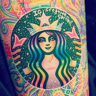 BRINGING ART FROM STARBUCKS CUPS.  This 19-year-old artist Carrah Aldridge doesn't like to let leftover Starbucks #cups go to waste. Instead, she prefers to use her empty drink containers as a #canvas for her #colorful #designs.