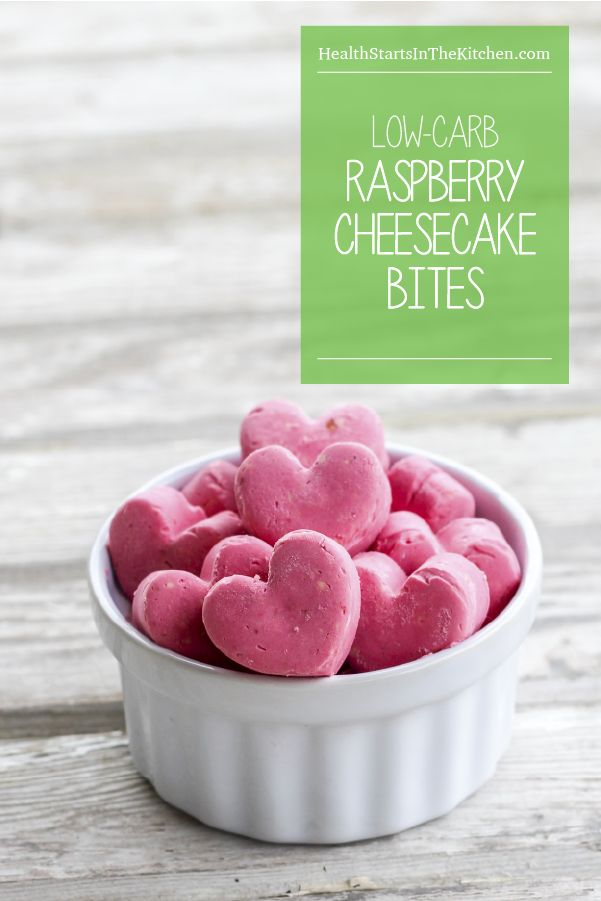Perfect for Valentine's Day - These Low Carb Raspberry Cheesecake Bites are guilt-free & delicious!