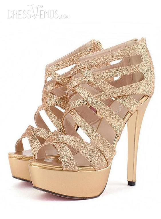 Most Fashion Golden Stiletto Heel Strappy  Euramerican Style Women Sandals