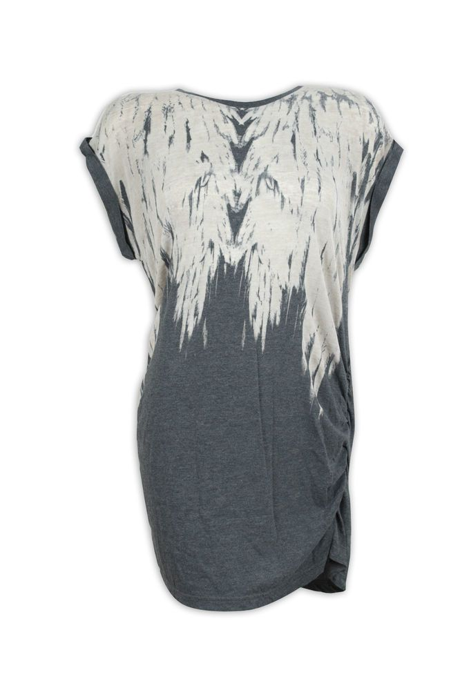 New Blooming Marvellous Mothercare #Maternity #Pregnancy Grey Feather Tunic Tshirt