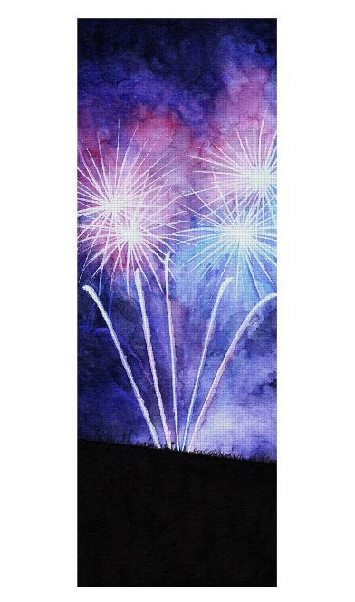 Blue and pink fireworks Yoga Mat by @savousepate on Rageon! #yogamat #firework #fireworks #ultraviolet #watercolor
