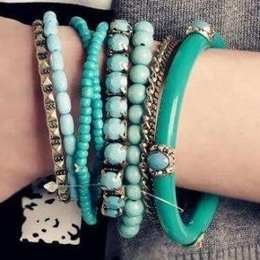 .: Fashion, Beads Bracelets, Turquoi Blue, Jewelry, Bangles Bracelets, Accessories, Bohemian Style, Shades Of Green, Turquoise Bracelet